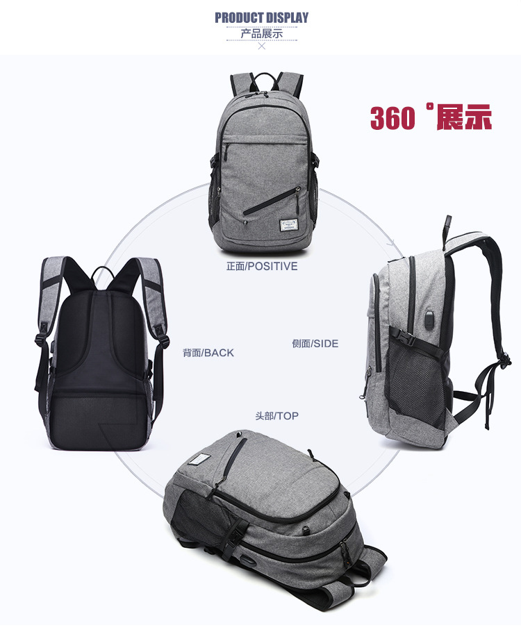 f0999bab71c5 Multifunction Basketball Backpack Man SportS Bag Gym Bag 15.6 Inch Laptop  with Basketball Net USB Charging Port Male Bag-in Gym Bags from Sports ...