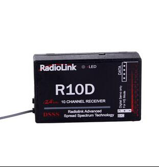 Original RadioLink R10D 2.4G 10CH DSSS RC Receiver for RadioLink AT9 AT10 RC Transmitter RC Helicopter Multirotor