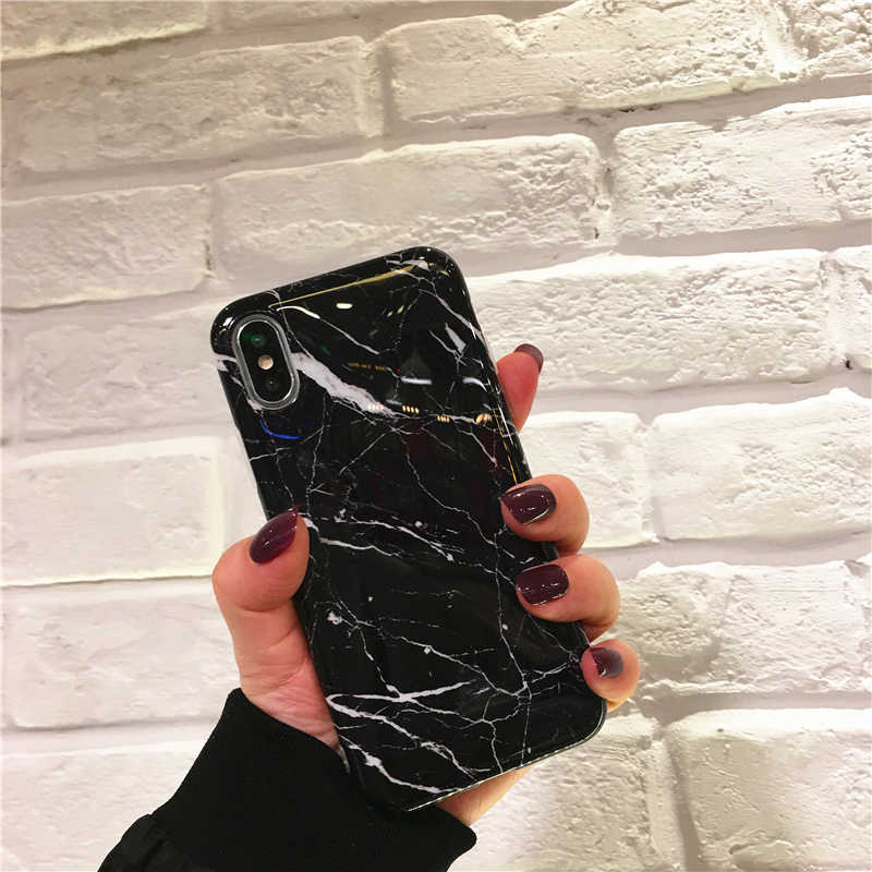 Funda de teléfono de mármol de lujo para iPhone 7 funda para iPhone X 7 6 6S 8 Plus funda 7 8 XR XS MAX Coque Fundas Capa carcasa