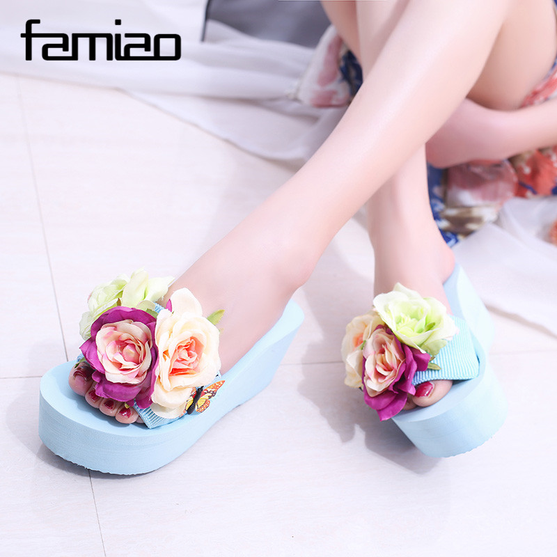 summer women mules clogs wedge sandals garden shoes handmade artifical pearl slippers jelly color casual original beach sandals hahaflower summer women slippers flower slipper beach thong slipper mules clogs garden shoes woman flats jelly sandals flip flop