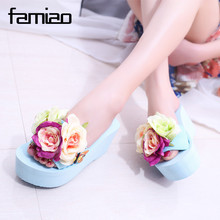 summer women mules clogs wedge sandals garden shoes handmade artifical pearl slippers jelly color casual original beach sandals