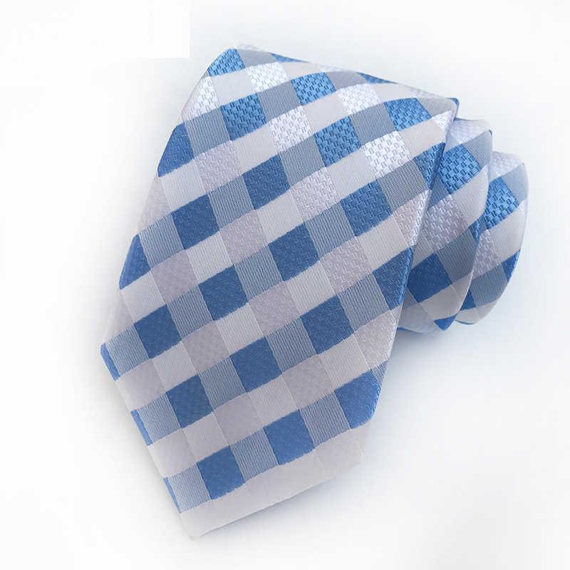 YISHLINE, новый завод, 8 см., галстук в клетку, в полоску, жаккардовый, классический, для мужчин, на шею, галстуки, свадебные, вечерние, Gravatas, для жениха, шелковый галстук