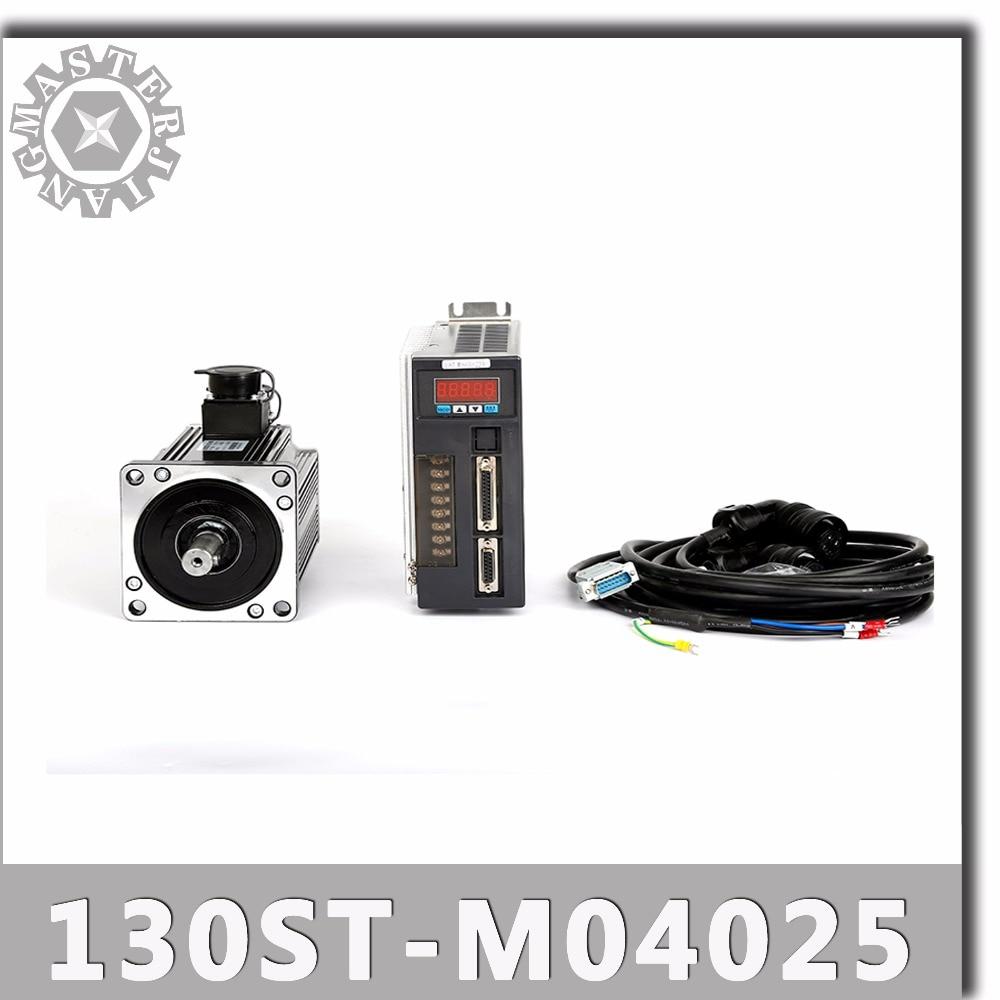 130ST M04025 220V 1KW AC Servo motor 1000W 2500RPM 4N M Single Phase ac drive permanent