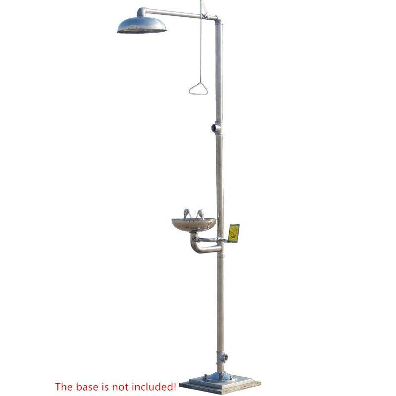 304 in acciaio inox composto di lavaggio oculare Di Emergenza a spruzzo verticale doccia doccia Occhio di lavaggio macchina Y