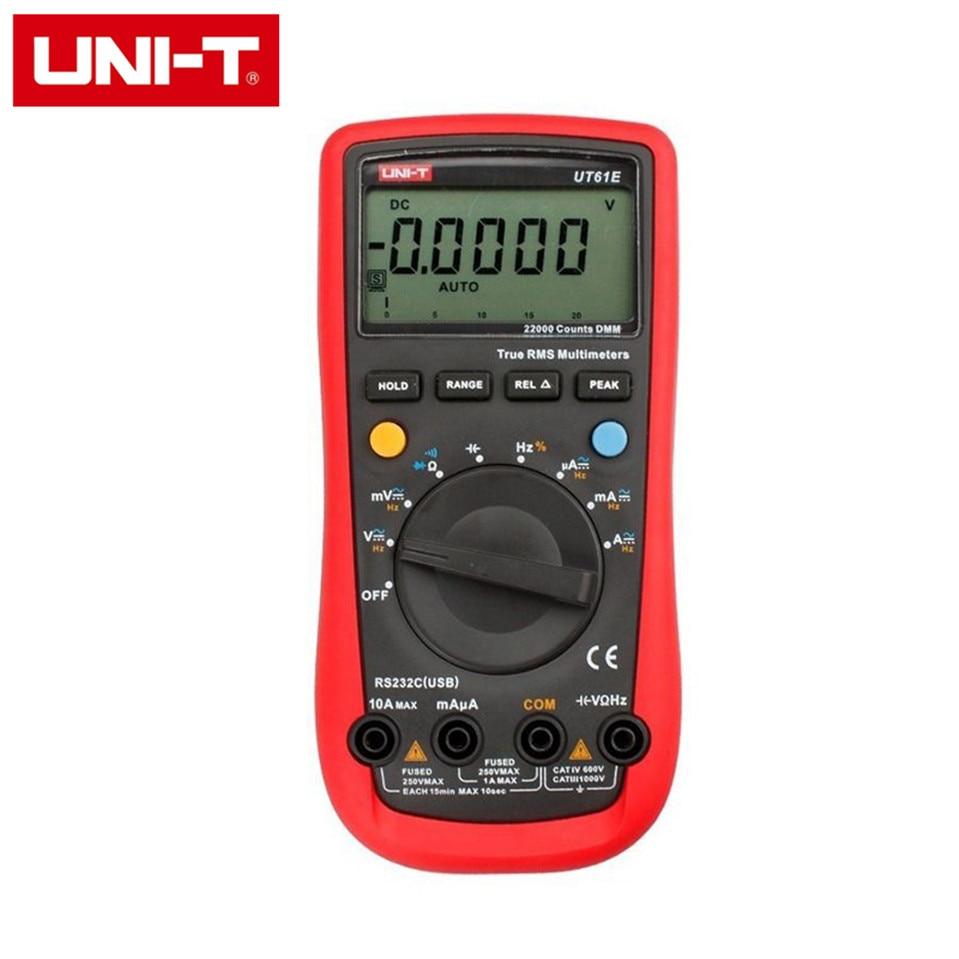 UNI-T UT-61E Modern Digital Multimeters UT61E AC DC Meter christmas eve w tree pattern plastic back case for retina ipad mini ipad mini 1 3 blue
