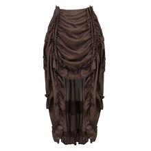 Женская винтажная юбка в стиле стимпанк, готическая юбка с оборками, Пиратская юбка размера плюс, костюм пирата, разноцветная танцевальная одежда с высоким низом