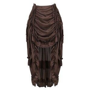 Image 1 - Falda Steampunk Vintage para mujer, falda gótica con volantes, falda pirata de talla grande, disfraz de pirata, varios colores, trajes de baile Alto y Bajo