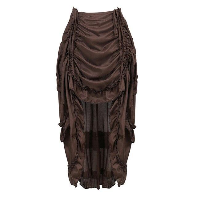 Falda Steampunk Vintage para mujer, falda gótica con volantes, falda pirata de talla grande, disfraz de pirata, varios colores, trajes de baile Alto y Bajo