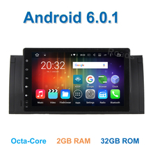 9 pulgadas Android 6.0 ocho core de multimedias Del Coche DVD GPS para BMW E39/X5/M5/E38/E53 con WiFi BT Radio de Canbus