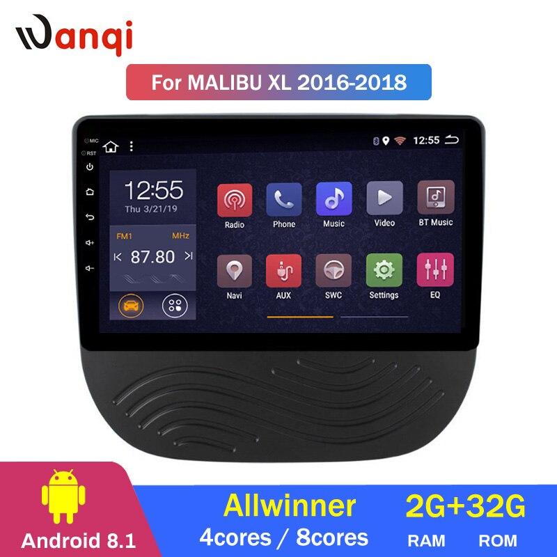 2G RAM 32G ROM 9 pouces Android 8.1 lecteur DVD de voiture pour Chevrolet Malibu XL 2016 2017 GPS Navigation Radio