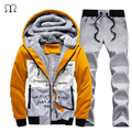 Winter Thick Inner Wool Hoodie Men Hat Moletons Masculino Casual Active Suit Men Zipper Exercise Suits Men Outwear Plus Size 4XL