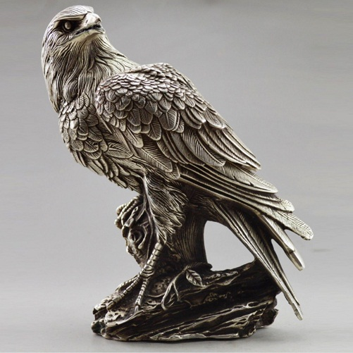 Chinese white bronze statues <font><b>sculptures</b></font> eagles and owls, various styles are shipped free of charge