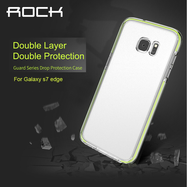 Rocha caso de autenticação do sgs para samsung galaxy s7 edge/S7 TPE Proteção Queda de Luxo Anti-knock Back Cover + TPU Para S7 borda