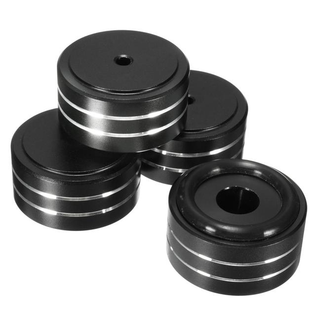 4 pçs/set 40x20mm Sólido De Alumínio De ALTA FIDELIDADE DAC AMP Speaker Turntable Carrinho de Isolamento Pad Pés Com Removível Não-Anel de Borracha anti-derrapante