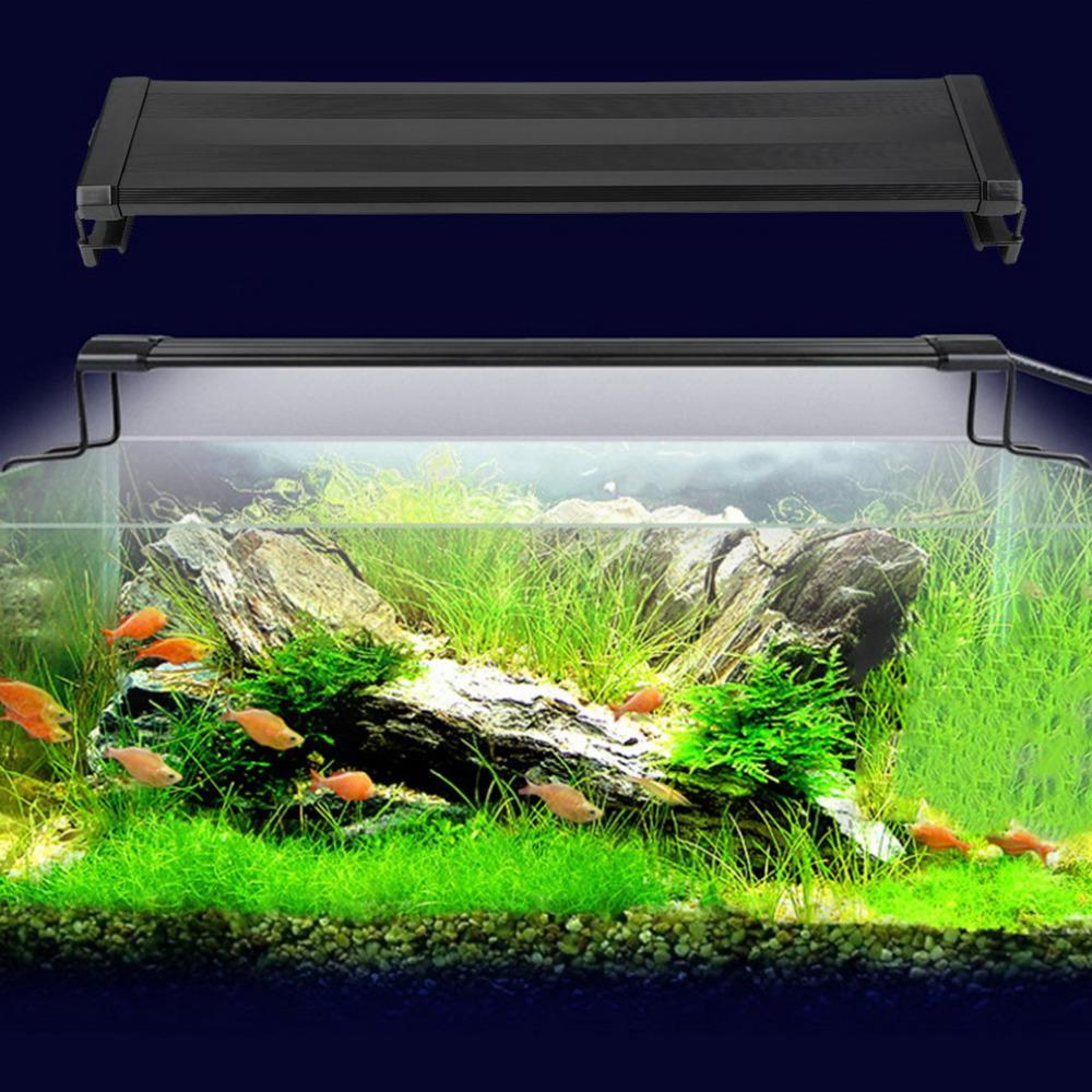 Aquarium Fish Tank LED Light Waterproof Clip Lamp White And Blue Light Decor EU Plug