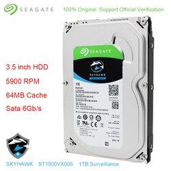 Original Seagate Internal HDD 1TB Skyhawk Video Surveillance Hard Disk Drive 3.5