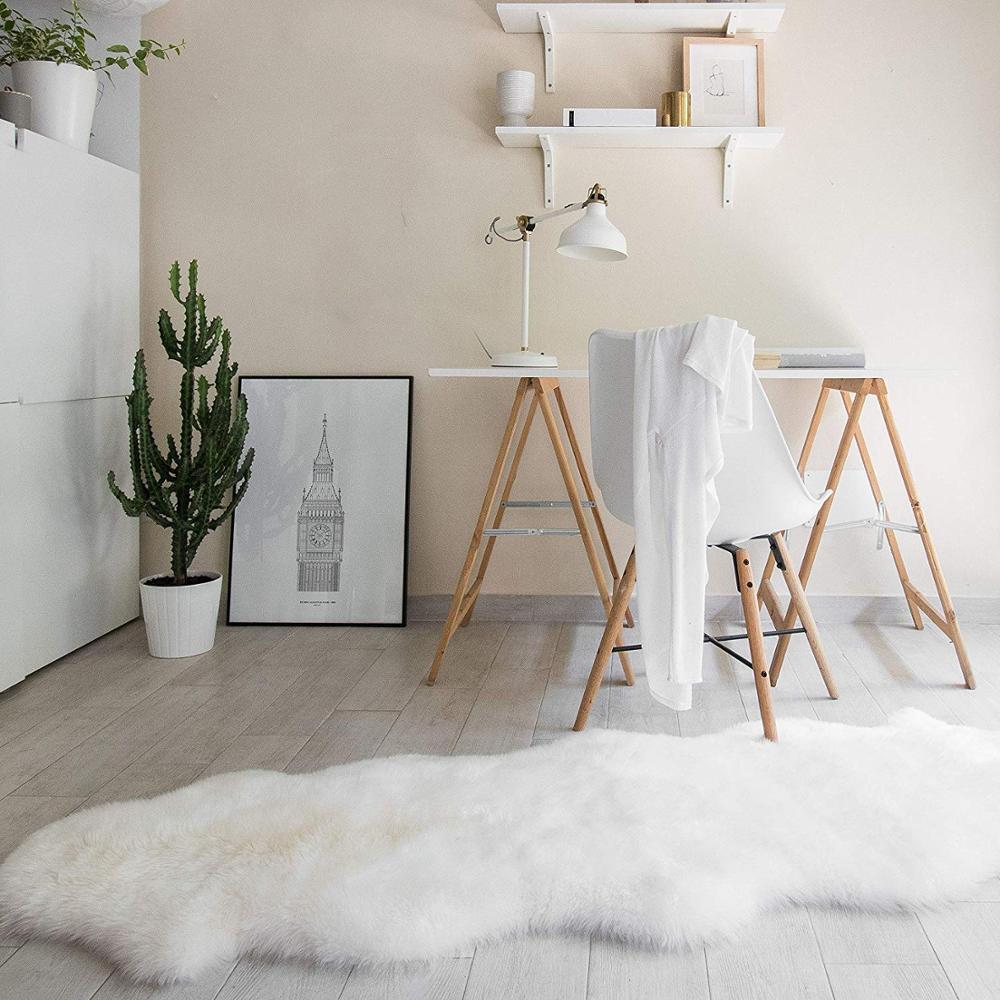 Tapis fourrure peau de mouton tapis poilu salon chambre tapis peau fourrure plaine moelleux tapis lavable chambre Faux tapis