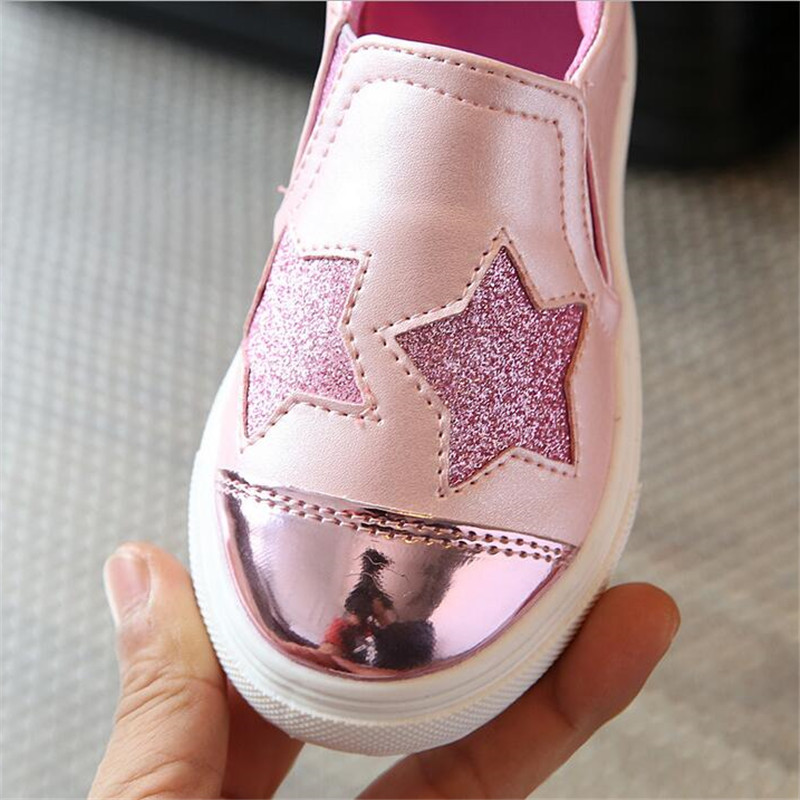 2017-new-fashion-childrens-sports-shoes-girls-lovely-stars-casual-shoes-flat-shoes-4