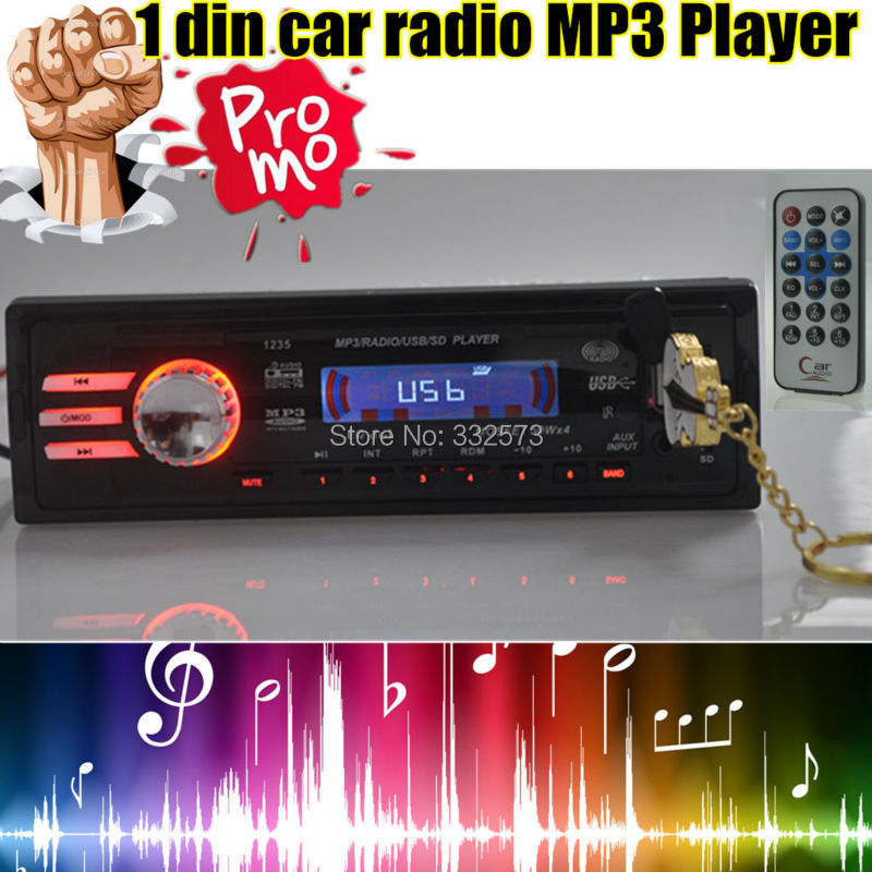 NEW Car radio player car audio FM Transmitter USB SD MP3 NO DVD Player Stereo Receiver