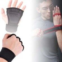 Фитнес с половиной пальца Перчатки Вес тренировочный Браслет фитнес перчатки женские мужские тренажерный зал защита для ладоней