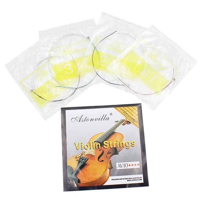 4 個のセットバイオリン弦 E-A-D-G コア鋼 + ニッケル巻絶妙な弦楽器楽器パーツアクセサリー