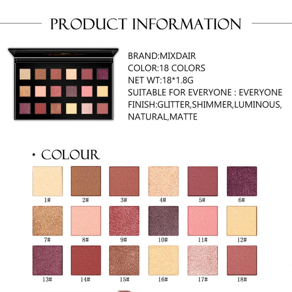18 cor/Set Profissional Da Paleta Da Sombra Matte Shimmer Glitter EyeShadow Palette de Longa Duração fácil de Desgaste Cosméticos Ferramenta TSLM2