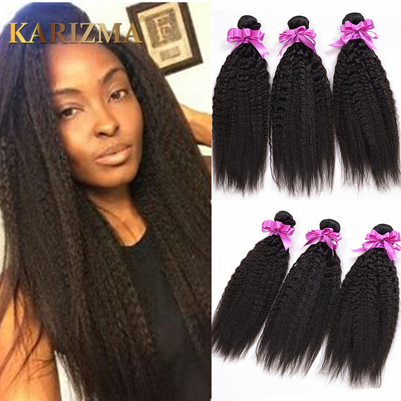 Mongolian Coarse Yaki Straight 10A Virgin Hair 3 Bundles Sale Human Hair  Weaves Italian Yaki Mongolian Kinky Straight Hair Wavy fa236958fa43