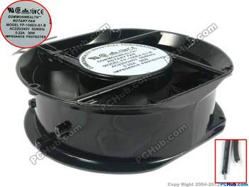 FP-108EX-S1-B AC 240V 60Hz, 172x150xx51mm Server Cooling Fan