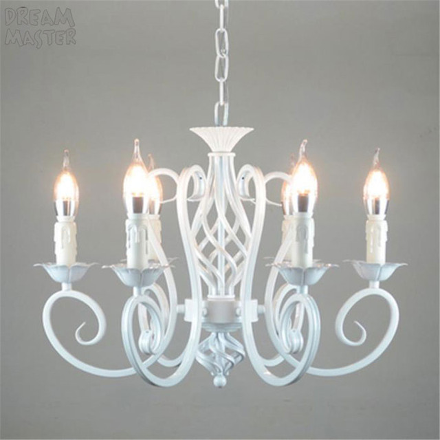 White Nordic Chandelier Wrough Iron lustre lamp For Living Room 220V 110V dining room bedroom Foyer Chandelier Lighting
