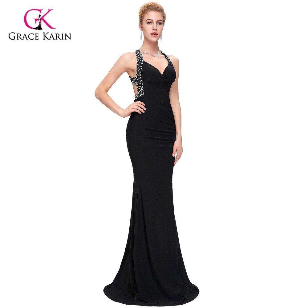 79851153a Grace Karin barato mujeres línea delgada bodycon vestidos de fiesta largos de  noche espalda descubierta Sexy vestido de fiesta formal vestidos de  bienvenida ...