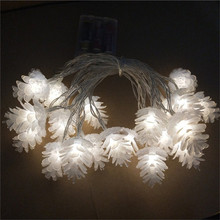Holiday Light LED String 3m 20leds Colorful Pine Cone Christmas Tree Decoration Indoor Outdoor Fairy