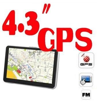 DHL или FedEx 10 шт. хит 256 Мб 8 Гб 4,3 дюйма сенсорный экран автомобильный gps автомобильный gps-навигатор DDR 128 Мб, Встроенный 4 Гб, бесплатные карты