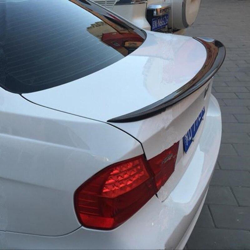 For bmw E90 spoiler E90 and E90 M3 carbon fiber rear trunk spoiler 318i 320i 325i 330i 2005 2011 E90 sedan rear wing CF