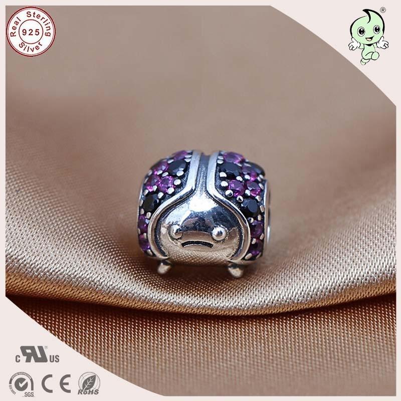 Popular High Quality Full Pink Stones Paving Animal Design 925 ... 3bea5291b