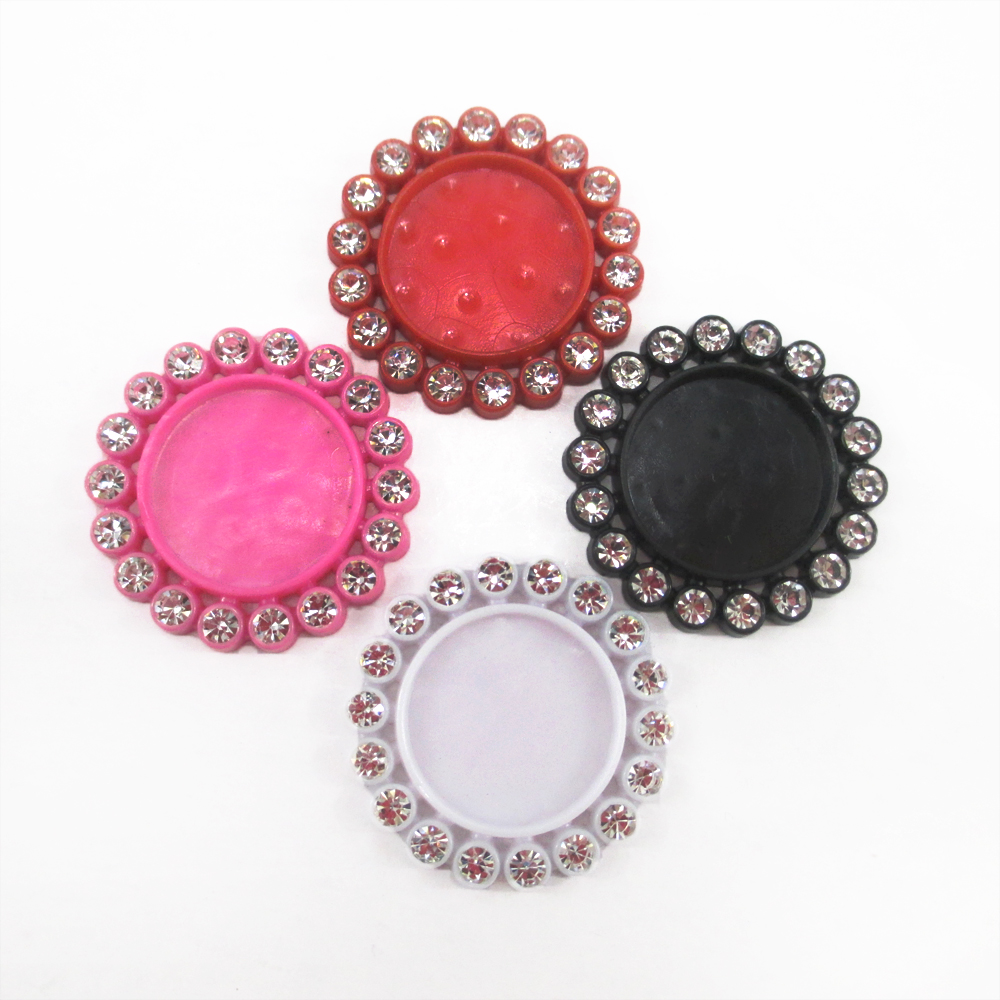 25 pieces inside 16mm flat back pedestal round shape with for Decoration pieces from waste material