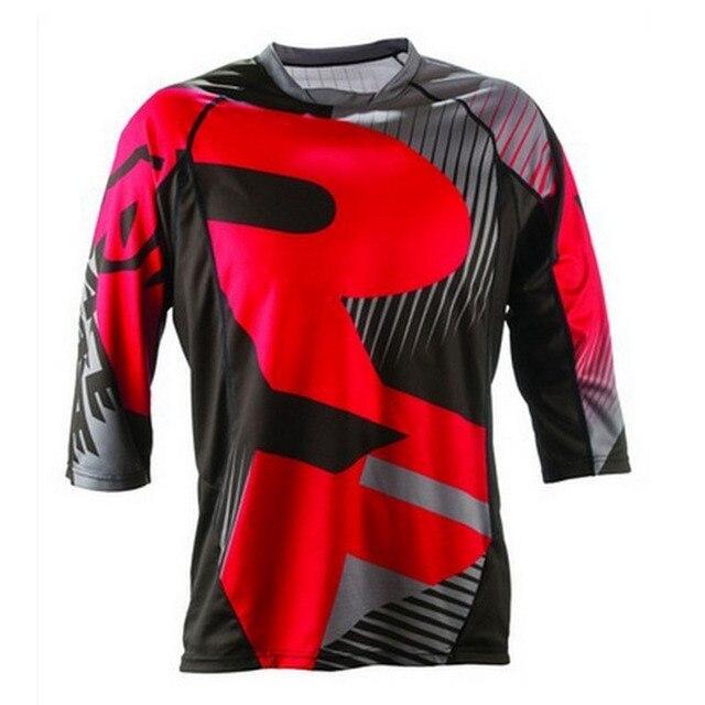 56a4e0cea Koszulki rowerowe Motocross 3/4 koszula z długim rękawem Ciclismo odzież Downhill  koszulki rower górski