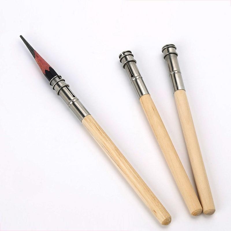 Holz Einzigen Kopf Einstellbare Kunst Extender Bleistifthalter Art-Schreibw