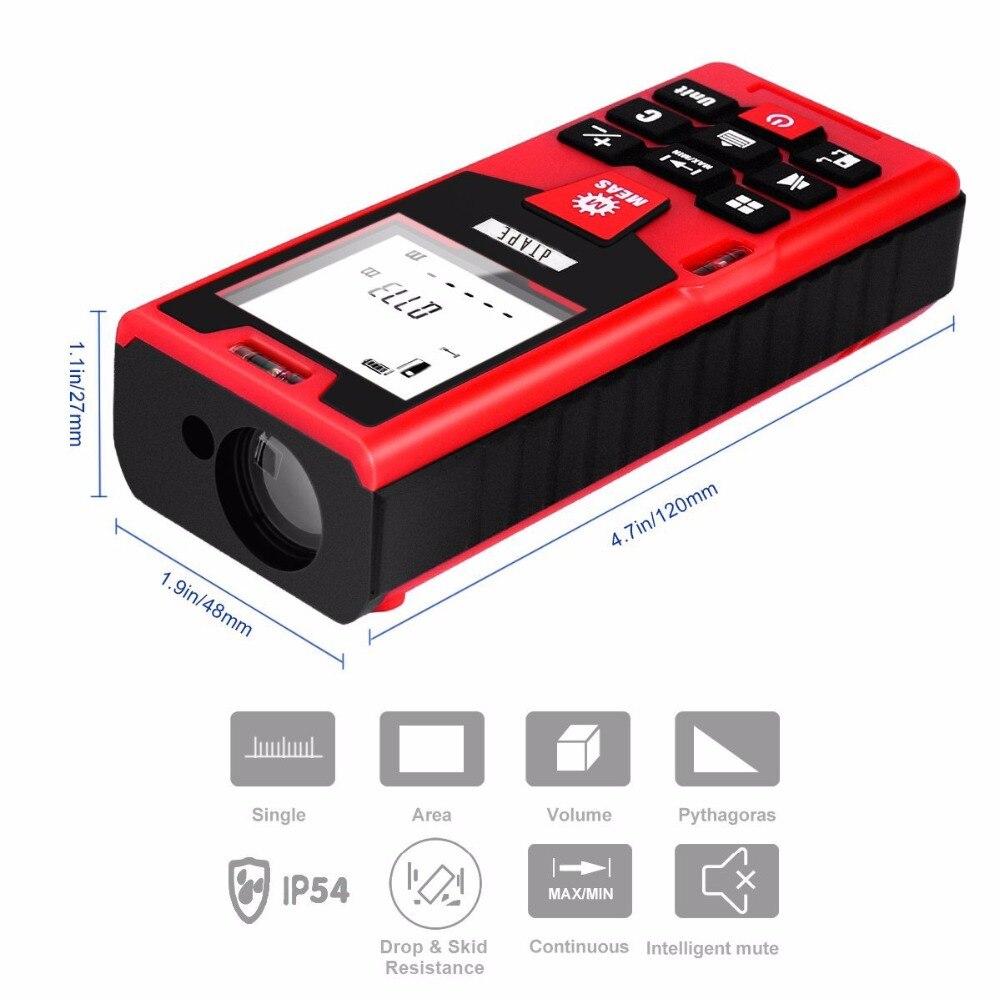 Medida de Distância a laser 131ft/40 m Pés Grande Backlit LCD Digital Portátil Medidor de Distância A Laser com Função Mute Medida dispositivo