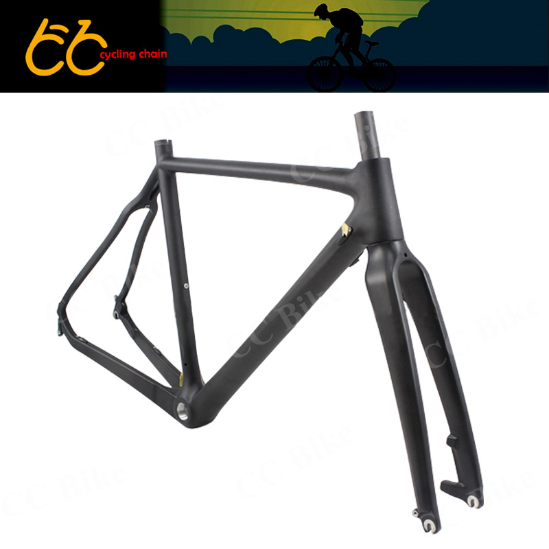 Cyclocross carbon bicycle frame disc brake  Carbon road  Bike Frame  including the  front fork CC-CR-027-D full internal cable routing cyclocross frame disc brake full carbon cyclocross bike frame