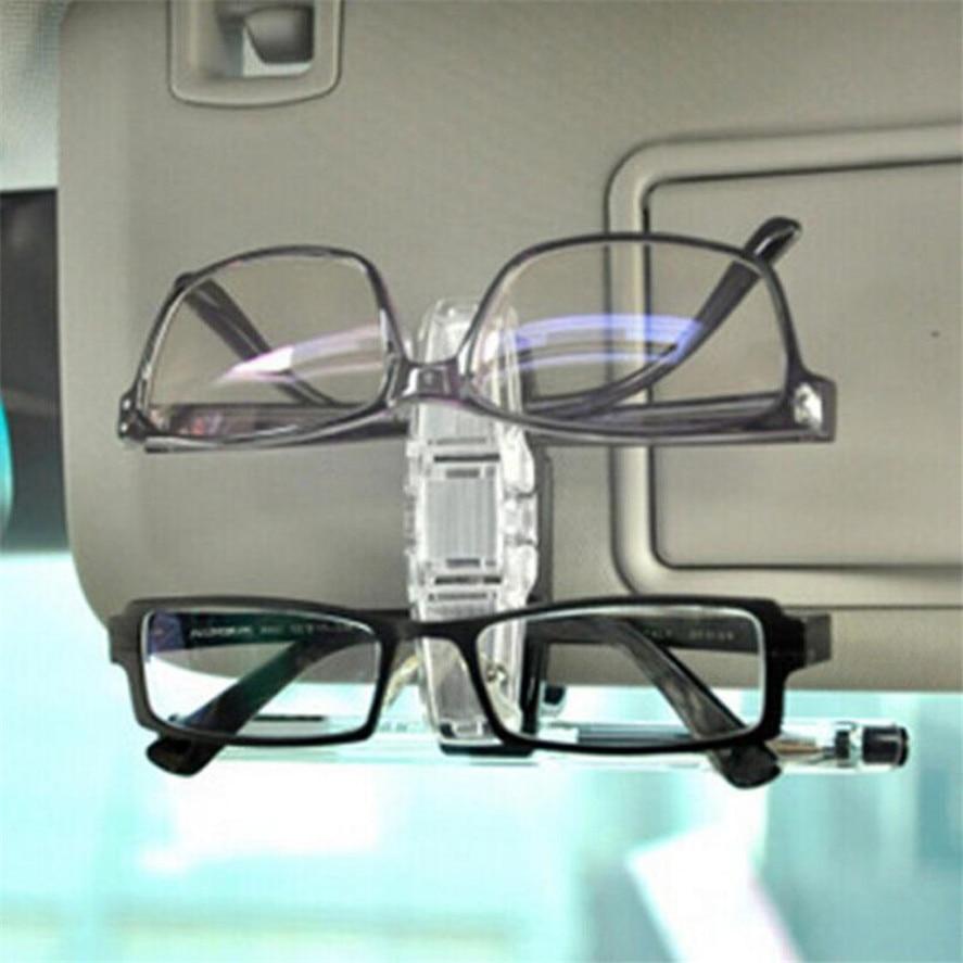 Car Sun Visor Clip Holder For Dual Sunglasses Reading Glasses