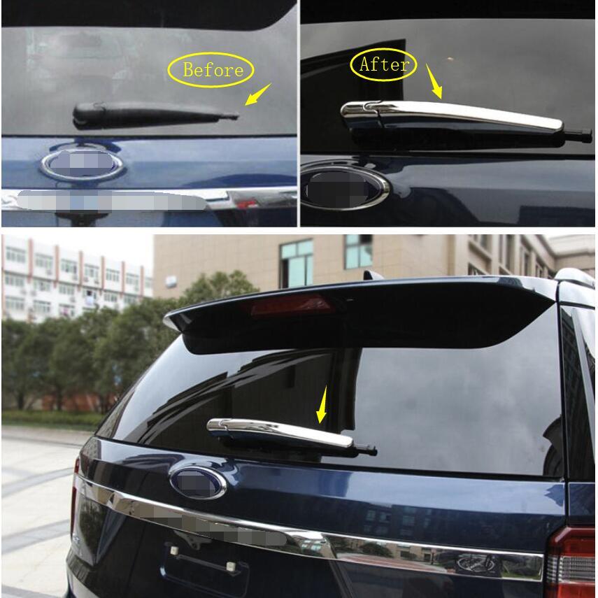 Ford Explorer 2013 - 2018 aksesuarları üçün Lapetus Chrome Arxa şüşəli Pəncərə silecek zolaq qəliblənən örtük örtüyü
