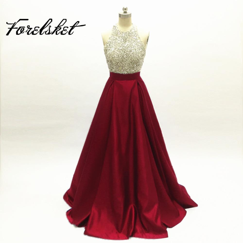 Taffeta Fabric 100% Handwork Sexy Design Black Color Long Crystal   Prom     Dresses   Ball Gown Evening   Dresses   Satin Party   Dress   2019