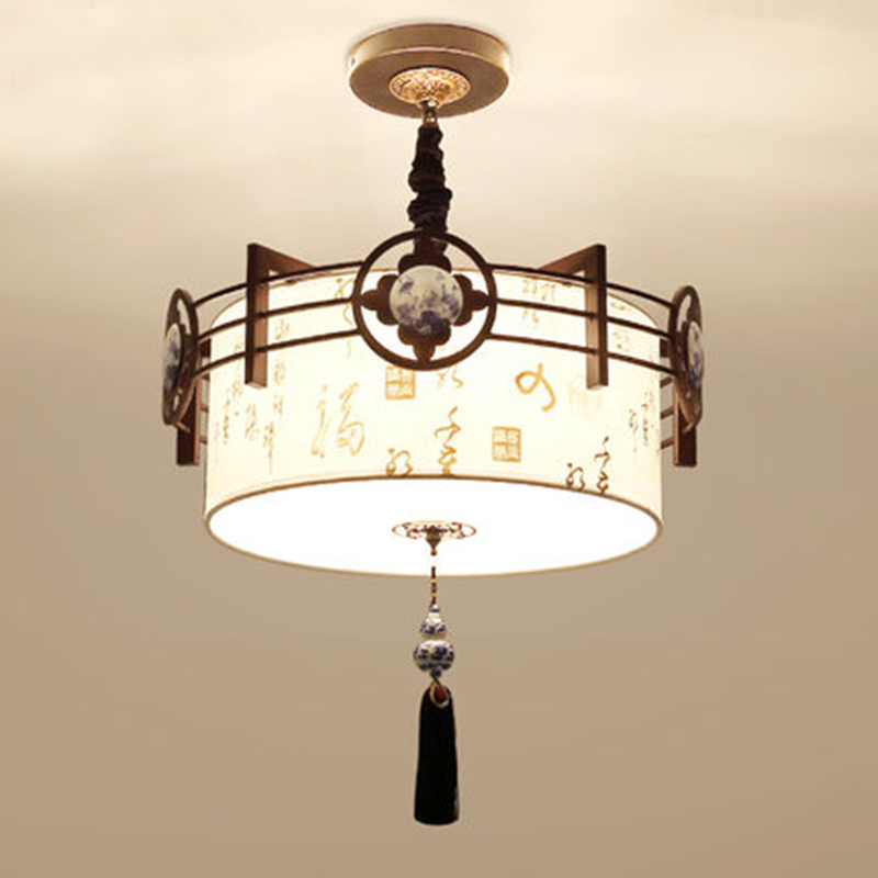 New Chinese Pendant Lights living room bedroom light study room dining hall lamp round concise retro wrought LU818386 chinese style iron lantern pendant lamps living room lamp tea room art dining lamp lanterns pendant lights za6284 zl36 ym