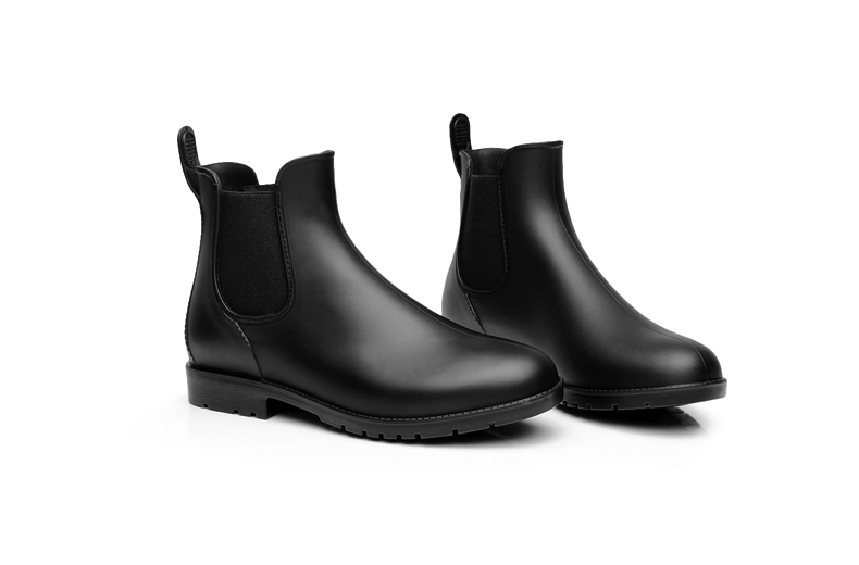 Men rubber rain boots fashion chelsea botas hombre casual slip-on waterproof ankle boots moccasins zapatos masculino 38-43 102 8