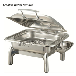Commercial Stainless steel buffet stove Electric heating round Buffet stove Restaurant Square food Insulation furnace 220v 400w