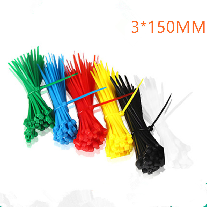 100pcs 3X150MM Self-Locking Cable Zip Ties.cable ties