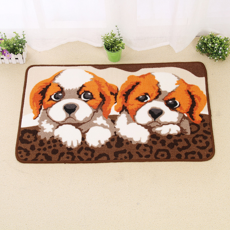 Zeegle Animal Pattern Welcome Door Mats Non-slip Cartoon Childrens Bedroom Carpet Rub Cushion Absorbent Bathroom Bath Mats