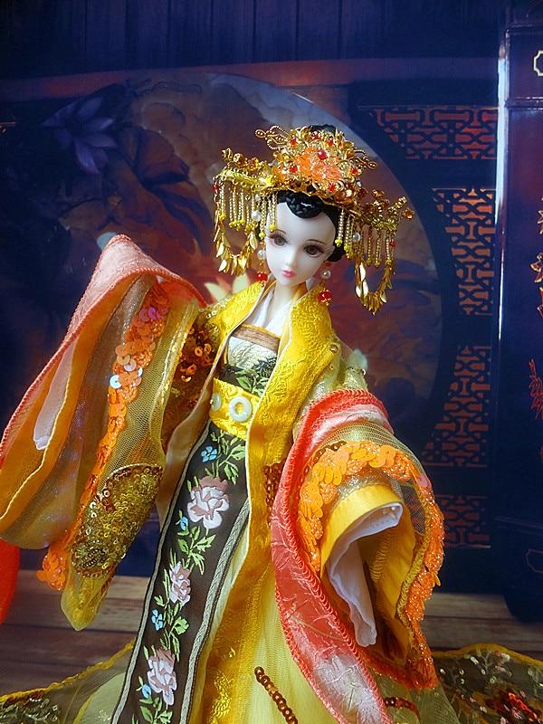 32 سنتيمتر التقليدية الصينية ملكة دمى جميلة فتاة bjd دمى الأفلام والتلفزيون بنات لعب هدايا عيد الميلاد لجمع-في الدمى من الألعاب والهوايات على  مجموعة 2
