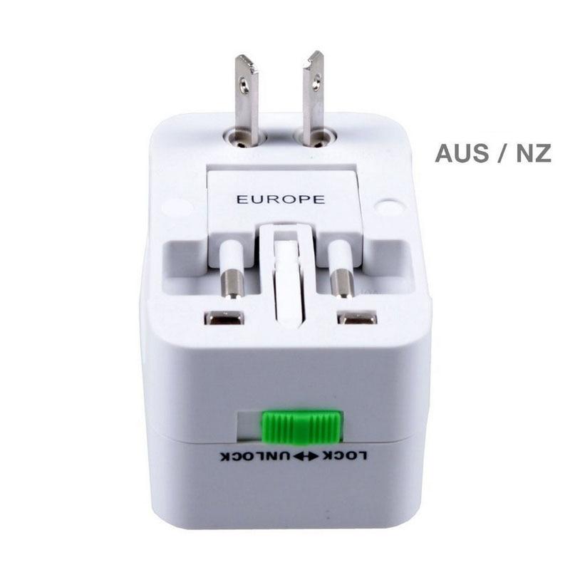 2PCS AU US UK EU Converter Plug All in One Universal International Plug Adapter Port World Travel AC Power Charger