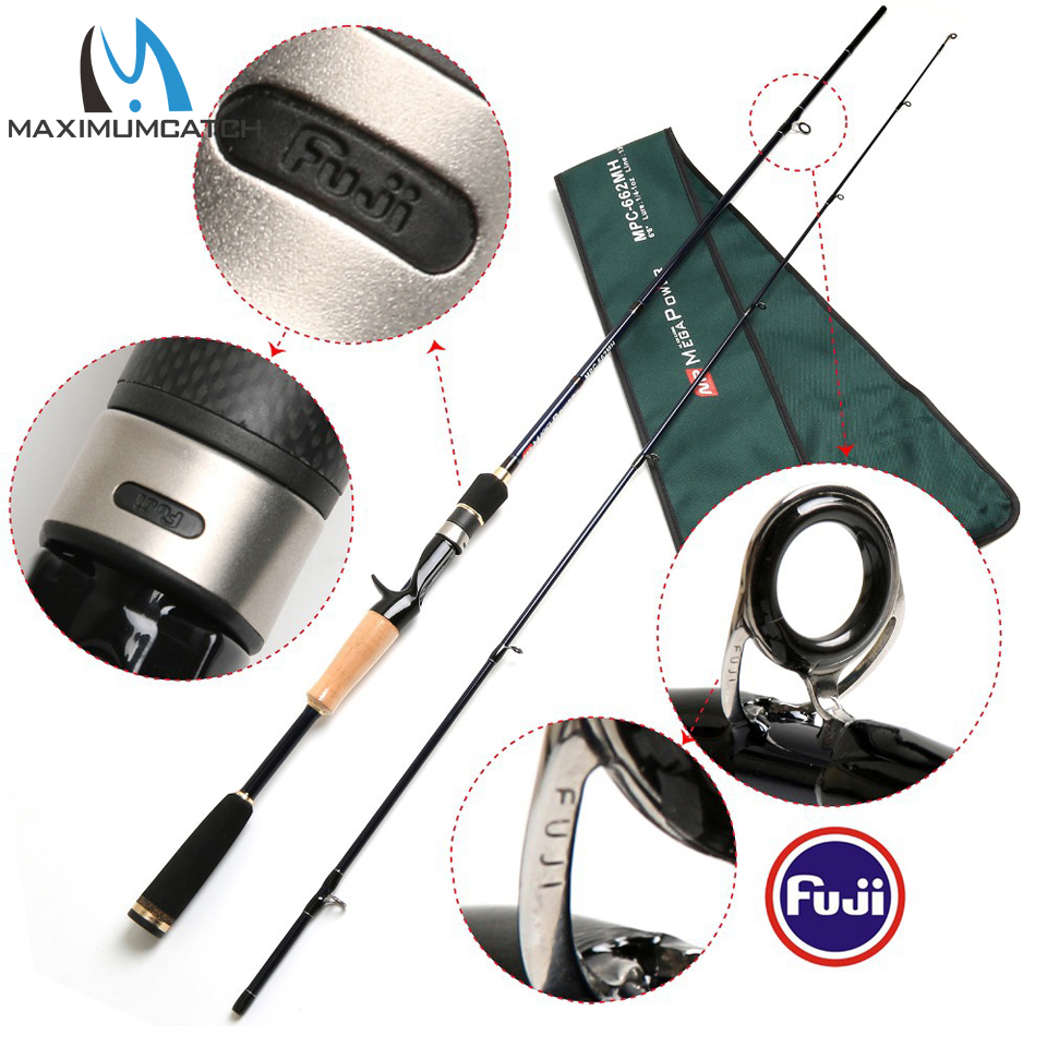 24T/IM6 Carbon Fiber Casting Fishing Rod MH Fast Action Megapower Casting Rod free shipping mpc 662 mh 2pcs lot 24t im6 carbon fiber casting fishing rod mh fast action megapower casting rod